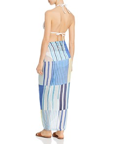 Echo - Stripes on Stripes Pareo Swim Cover-Up